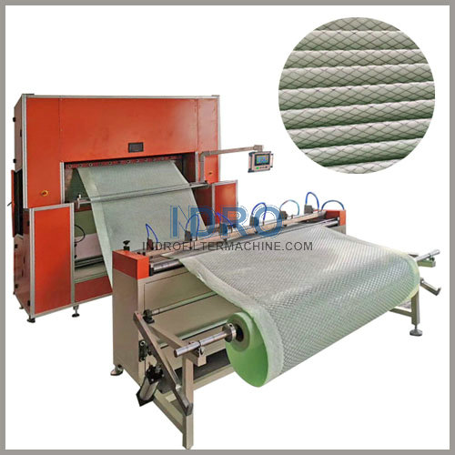 pleated panel air filter making machines line